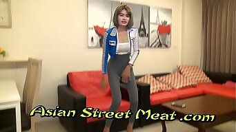 Restrained Asian Subjection Slapper With Sperm Matted Pubes