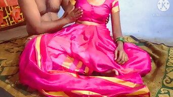 Sex with Telugu wife in pink saree